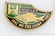 Rybářský odznak MO ČRS Louny 100let 1882