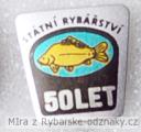 Rybářský odznak Státní rybářství 50 let