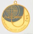 Rybářský odznak Zlatá udice modrá
