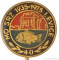 Rybářský odznak MO SRZ Levice 1935-1975