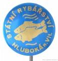 Rybářský odznak Státní rybářství Hluboká