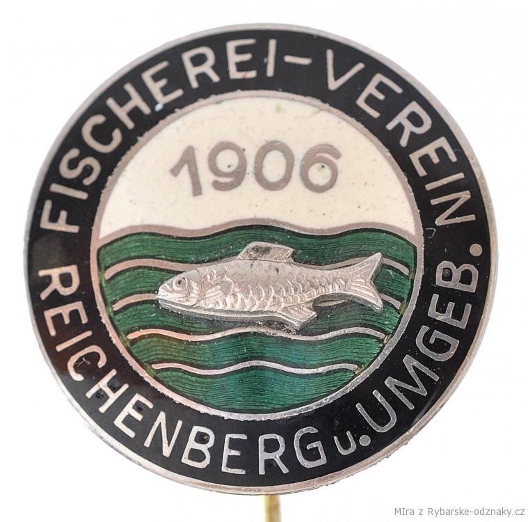 Rybářský odznak Fischerei Verein Reichenbergu u. Umgeb.