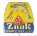 Rybářský odznak Znak Hradec Králové Ryna