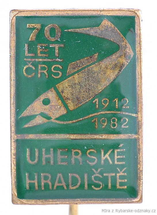 Rybářský odznak Uherské Hradiště 70 let 1912-1982