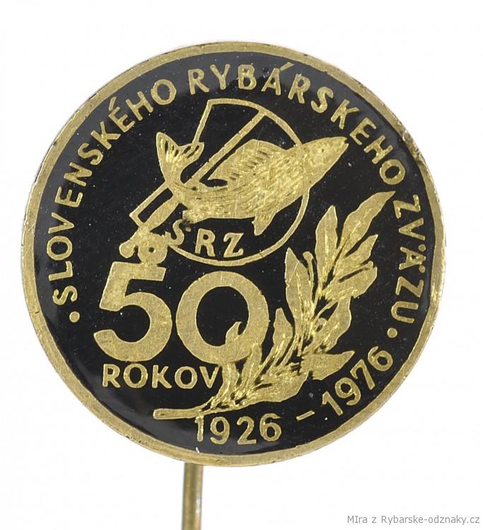 Rybářský odznak 50 rokov SRZ 1926-1976