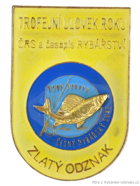 Rybářský odznak Trofejní úlovek roku ČRS a časopis Rybářství