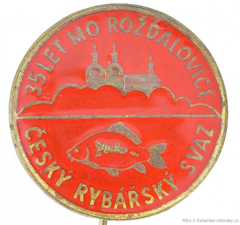 Rybářský odznak ČRS MO Rožďalovice 35 let