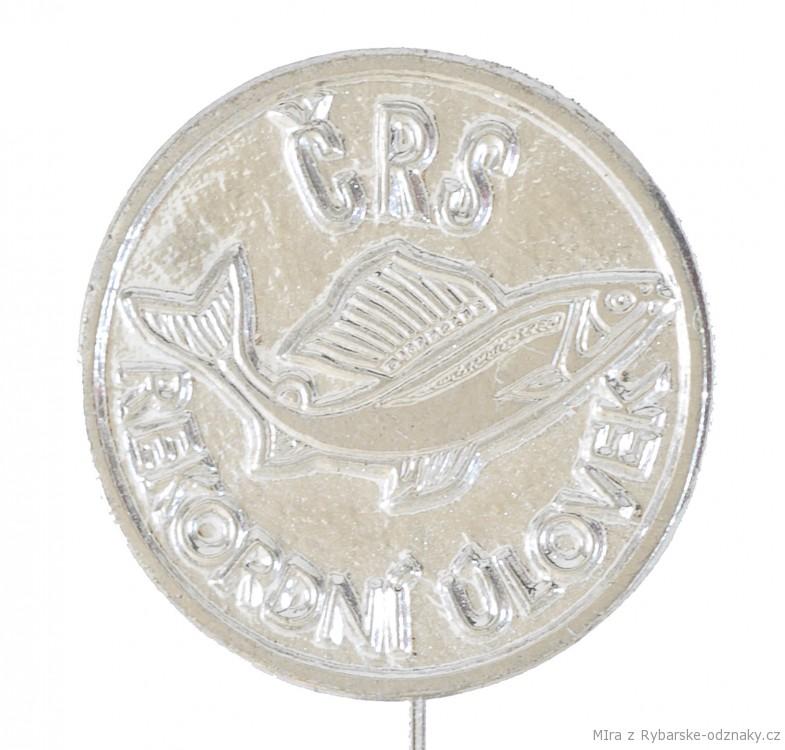 Rybářský odznak ČRS - Rekordní úlovek - stříbrný